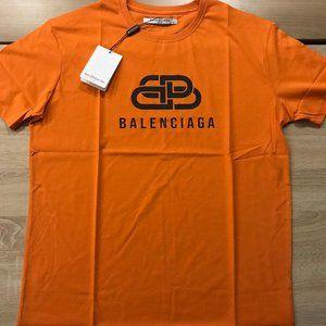 balenciaga orange t shirt